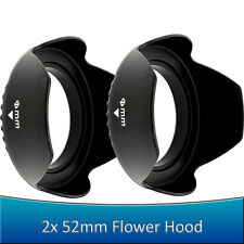 2x PCS 52MM Petal Flower Lens Hoods for & Nikon DSLR D5200 D5100 D3200