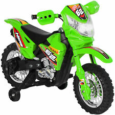 6V Electric Kids Ride On Motorcycle Dirt Bike W/ Training Wheels- Green