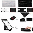 Portable Mini USB Wired Keyboard For iMac iPad Android Windows Tablet PC w Stand