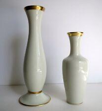 Pair of Vintage KM Royal Bavaria Porcelain Pitcher Ewer Bud Vase Gold