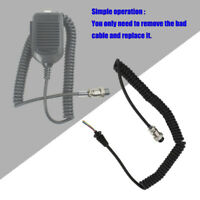 8 Pin Speaker Mic Cable Replacement Line For Kenwood /ICOM Radio Portable