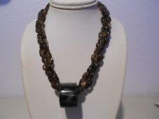 3srs. smoky topaz necklace /onyx barrel