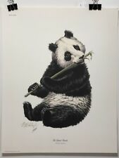 FINE ART LITHOGRAPH: Giant Panda By Guy Coheleach Signed, COA, And Jacket