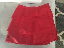 BCBG Maxazria Short Red Skirt Size 0 Super Cutie