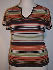 PIERRE CARDIN fits Ms. Medium or Juniors XL V-Neck Short Sleeve Sweater Top