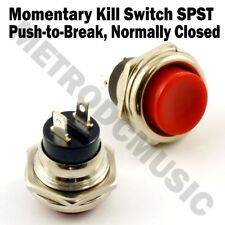 Momentary Kill Switch for Guitar Mod SPST Normally-Closed Push to Break Button