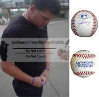 Yonder Alonso Atlanta Braves Signed Autograph Baseball Athletics A's Proof COA