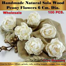100 Handmade Peony Sola Flowers Diffuser Craft Wedding Bouquet Natural Decor