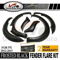 Jungle Flares For Ford Ranger 2012-2015 PX1 MK2 Guards 6 PC Frosted Black Fender
