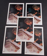 "YES-JON ANDERSON- cards signing his Album art lithograph by ROGER DEAN 4x6"" 5 pc"