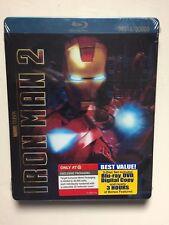 Iron Man 2 (Blu-ray/DVD, 2010, Includes Digital Copy) NEW Target Metalpak