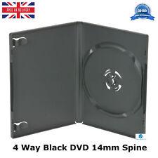50 x 4 VIE 14mm DVD Nero Spina Dorsale contiene 4 Dischi con Pak Ricambio Case AMARAY