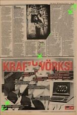 Kraftwerk The Model Computer Love Advert NME Cutting 1982