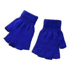 Keep One Warm Mitten US Knitted Plain Fingerless Size Unisex Winter Gloves Basic