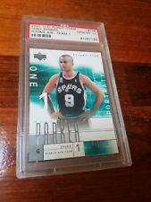 TONY PARKER RC 2001-02 UPPER DECK FLIGHT TEAM ROOKIE AIR #001/250 PSA GEM MT 10