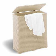 Cesto portabiancheria accessori bagno ambrogio beige