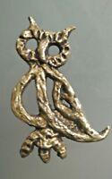 Broche créateur en bronze art déco Hibou /Chouette  ancienne Moderniste