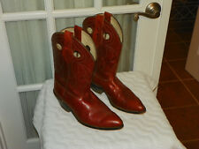 Acme Vintage Cowboy Boots Men's Size 9 D  Brown Leather Made in USA