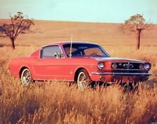 1965 Red Ford Mustang Fastback Vintage Car Wall Decor Art Print Poster (16x20)