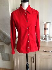 Pepe Jeans London Corduroy Cotton Red Blouse Shirt Size-S/M Lovely Condition