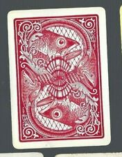 Swap Playing Cards 1 VINT  WIDE U.S  REV  BIG FISH HEAD & SHELLS  AWESOME  US48