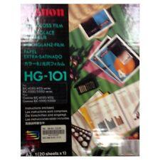 CANON HIGH GLOSS FILM A3 HG-101 20 FOGLI EXTRA-SATINATI PER FOTO AD ALTA QUALITA