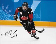 Autographed Marie Philip Poulin Team Canada 2018 Olympics Womens Hockey 8x10 #6