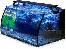 New listing Hygger Horizon 8 Gallon Led Glass Aquarium Kit for Starters w/ 7W Power Filter
