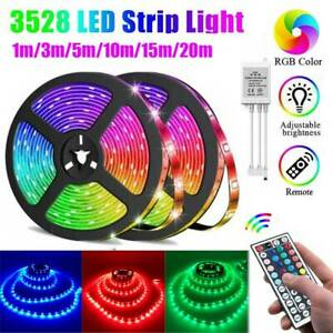 1-20M USB LED Strip Lights RGB Colour Changing Under Cabinet Kitchen TV Lighting