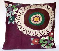 29X27 Suzani pillow,lumbar pillow,vintage pillow,floral pillow,Needlework pillow