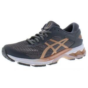 Asics Womens Gel-Kayano 26 Gray Fitness Running Shoes 6.5 Medium (B,M) BHFO 0500