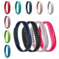 Bande de poignet Bracelet de remplacement silicone avec boucle pr Fitbit Flex 2