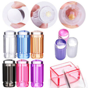 DIY Jelly Silicone Nail Art Stamping Plate Stamper Scraper Manicure Decoration