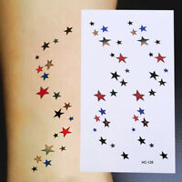Colorful Star Waterproof Temporary Tattoo Stickers Women Beauty Body Art B mi