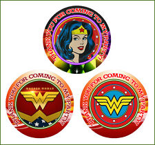 12 Wonder Woman Symbols Birthday Party Favor Stickers (Bags Not Included) #1