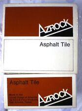 AZROCK Uvalde Rock Asphalt Asbestos Tile Samples 1970's Federal Specification