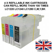 Refillable Ink Cartridges to replace Brother DCP-J525W, DCP-J725DW, DCP-J925DW