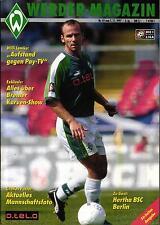 BL 97/98 Werder Bremen - Hertha BSC, 01.11.1997 inklusive Mannschaftsposter