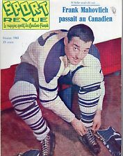 1961 (Feb.) Sport Revue Hockey magazine, Frank Mahovlich, Toronto Maple Leafs~Gd