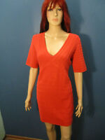 XL red orange stretchy tight dress by CATO