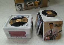 ~ vintage Vandor ~ Elvis Presley RecordPlayer & Records Salt & Pepper~ Mib~2000