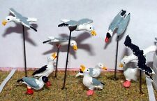 10 Seagulls L28 UNPAINTED O Scale Langley Models Kit 1/43 Animals Metal
