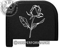 for Glock 43 ONLY Rear Slide Cover Plate Black 9mm G43 Rose Flower