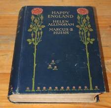 "Antique Book: ""Happy England"", 1904. With Memoir and Descriptions."