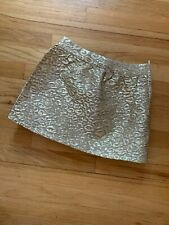 The Childrens Place Gold Cheeta print Skirt Size 8
