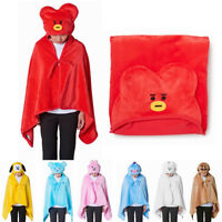 OFFICIAL BT21 HOODIE KNEE BLANKET LINEFRIENDS, BTS TATA COOKY AUTHENTIC GENUINE