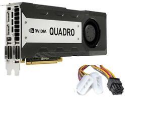 HP Nvidia Quadro K6000 12GB GDDR5 PCIe Video Graphics Card 713207-001 C2J96AA