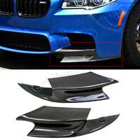 Carbon Fibre R Style Front Bumper Lip Spoiler Splitter For BMW F10 M5 2012-2016