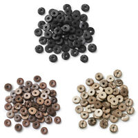 100pcs Coconut Beads Dyed Donut Smooth Spacer Beads Loose Beading Craft 9~12mm