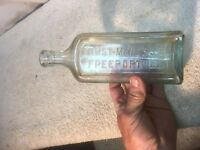 Vintage Apothecary Steam Punk Glass  Bottle Furst McNess Co Freeport ILL